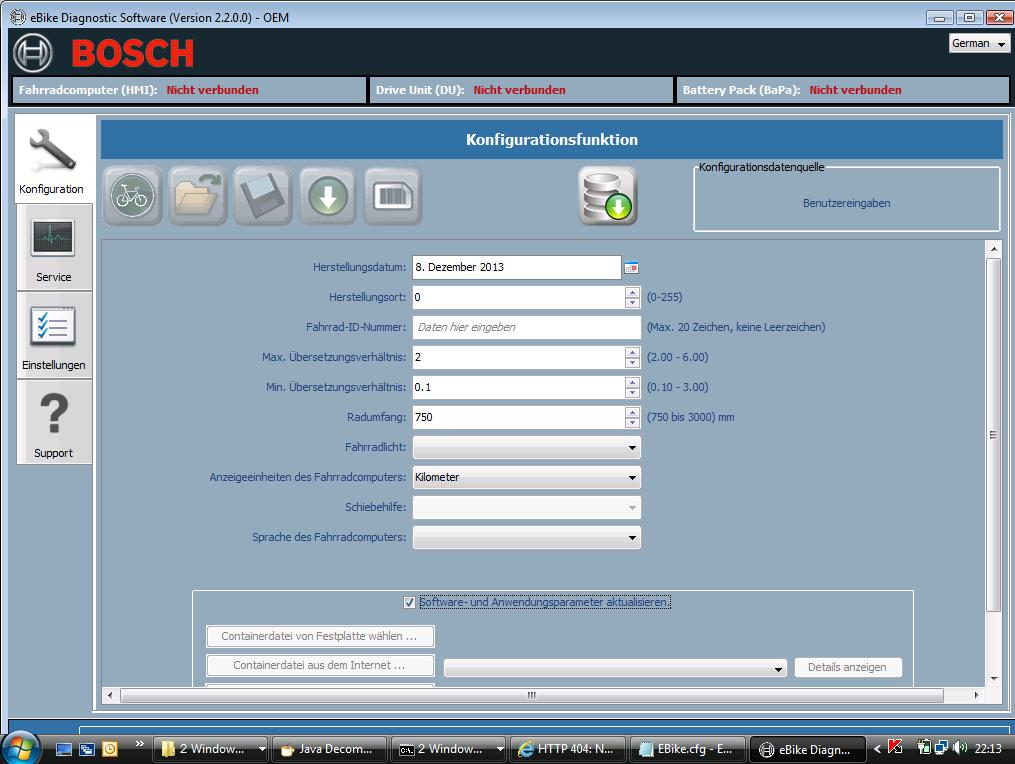 E-Bike Diagnose bei Bosch